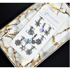Snowflakes Charm and Page Marker Set